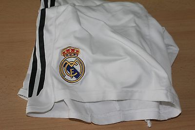 "REAL MADRID FOOTBALL SHORTS Size 36"" OFFICIAL ADIDAS SHORTS"