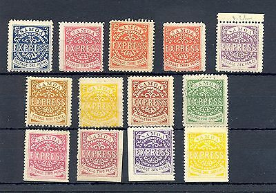 Samoa 13  St.  - We Think Most Or All Forgeries - Reprints - For  Reference