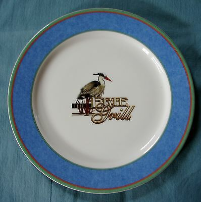 """(4) Villeroy & Boch China 11 1/2"""" Charger Plates Tipo Viva Blue ~ The Erie Grill"""