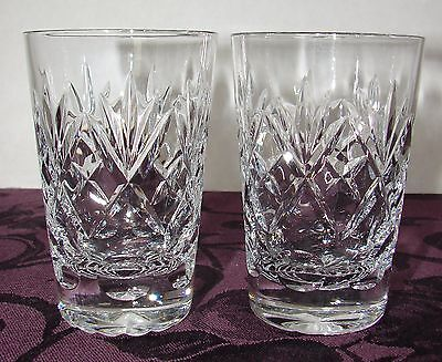 (2) Royal Doulton Webb Corbett Georgian Lead Crystal Juice Glasses Tumblers