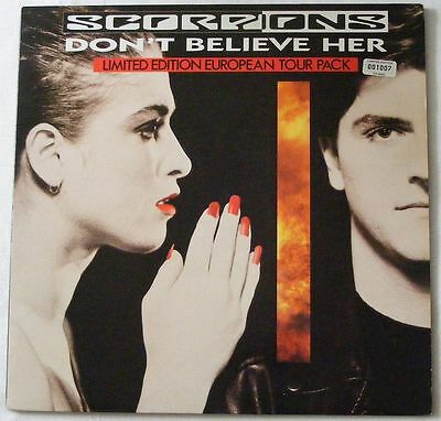 "SCORPIONS UK 1990 LIMITED EDITION 12"" Single Don't Believe Her NUMBERED"