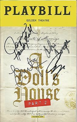 A Doll's House Part 2 Playbill Signed by entire cast! LAST ONE! Laurie Metcalf+