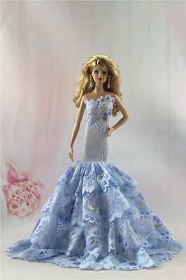 Fashion Handmade Princess Dress Wedding Clothes Gown for Barbie Doll L04