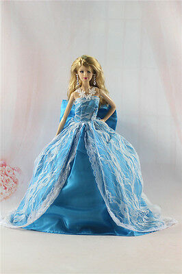 Fashion Handmade Princess Dress Wedding Clothes Gown for Barbie Doll L16