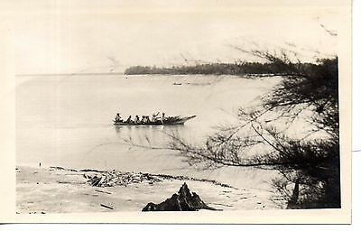 Great photo Kuanton with boat, Pahang, Malaya.1933