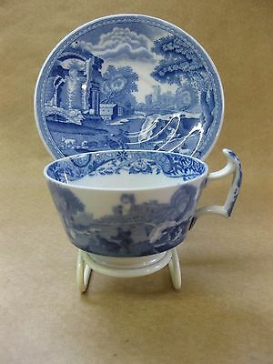 Vintage Copeland Blue & White Small Cup & Saucer / Demitasse ~ Spode's Italian