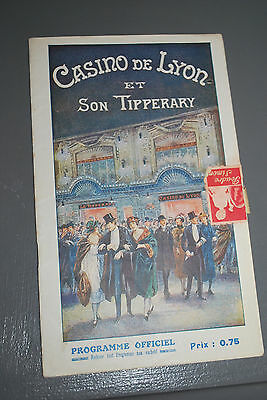 Programme Casino Lyon Tipperary Mars 1922 music hall