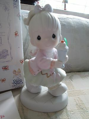 PRECIOUS MOMENTS 1996 Members Only OUR CLUB IS SODA-LICIOUS Figurine New/Box!!