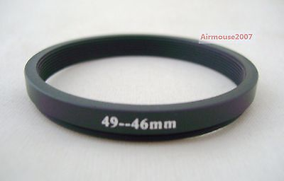 49-46 49mm-46mm Step Down Ring Adapter 49mm Lens To 46mm Accessory Filter Hood