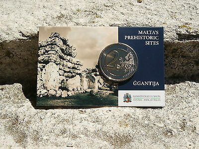 "Malte Coincard 2 Euro Commemorative 2016 ""ggantija"" Differents Mdp"