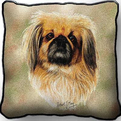 "17"" x 17"" Pillow - Pekingese by Robert May 1166"