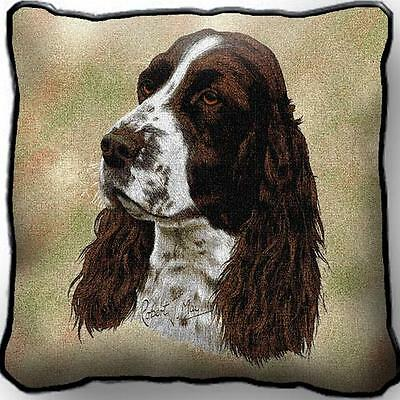 "17"" x 17"" Pillow - English Springer Spaniel by Robert May 1134"