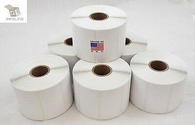 8 Rolls Perforated 2.25x1.25 Direct Thermal Shipping Labels - 1000 Per Roll