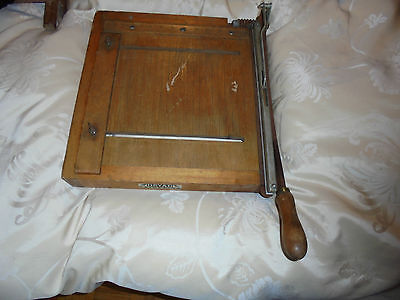 Working vintage 1950s DRYAD of Leicester paper guillotine/trimmer/cutter