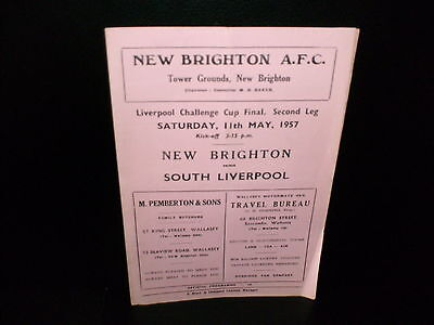 1956/1957 Liverpool Challenge Cup Final  New  Brighton  V.  South  Liverpool