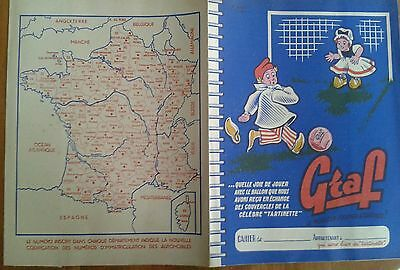 Protege cahier ancien GRAF fromage a tartiner