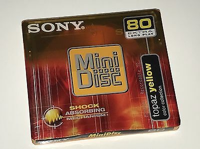 Sony MiniDisc 80 Extra Long Play - yellow - MD - Shock Absorbing - NEU - OVP