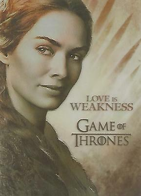 "Game of Thrones Season 2 - PL2 ""Cersei Lannister"" Plastic Gallery Chase Card"