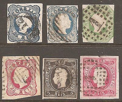 1856-67 Portugal Imperf Selection Used Spacefillers