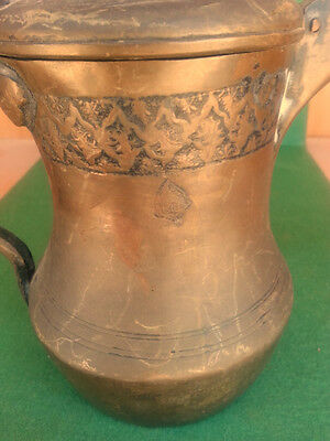 Anitque ISLAMIC ARABIC COPPER DALLAH COFFEE POT دلة Signed Middle East 19th C