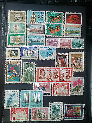 D262. Magyar. Hongrie.  2 Pages Timbres Obliteres