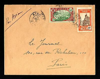 15498-NIGER-AIRMAIL COVER NIAMEY to PARIS (france) 1935.WWII.French colonies.AOF