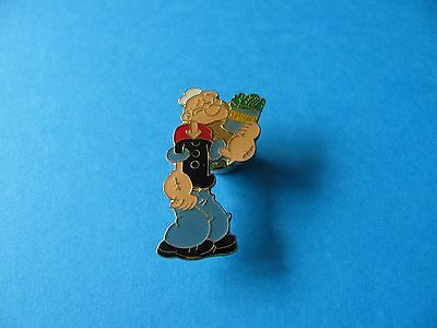 Popeye Character with Spinach pin badge. VGC. Enamel.
