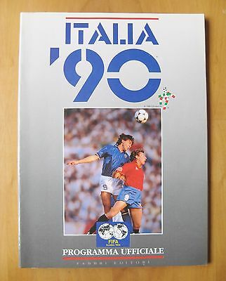 1990 World Cup - Official Programme / Brochure Italian Edition *VG Condition*