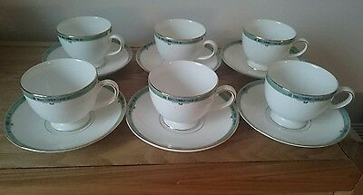 Wedgwood Jade 6 Tea Cups With 6 Saucers Unused Condition