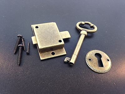 Grandfather Clock Door Lock Key Set Antique Finish