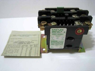 Furnas ® 48DC38AA4 Thermal Overload Relay 3 Pole 30 Amp 00 0 1 New NOS NIB