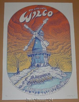 Emek Wilco Paradiso Amsterdam Poster Print Sunset Variant Signed Numbered 2005