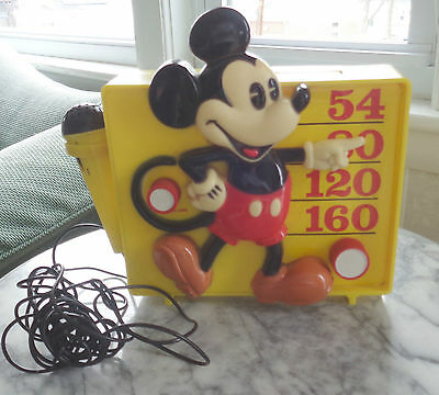 1960's Era Mickey Mouse AM Radio with Microphone