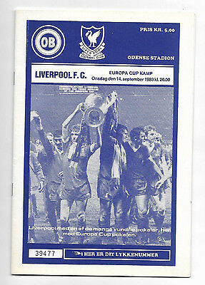 1983/84 European Cup - ODENSE BK v. LIVERPOOL