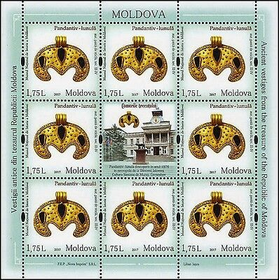 Moldova stamps! Treasure of National Museum, Jewelry, MNH, 2017, 8v
