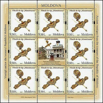 Moldova stamps! Treasure of National Museum, Brooch, MNH, 2017, 8v