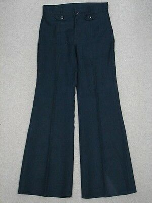 OF13433 VINTAGE 1970s **ANGELS FLIGHT** BELLBOTTOM WOMENS POLY JEANS 27x30 DARK