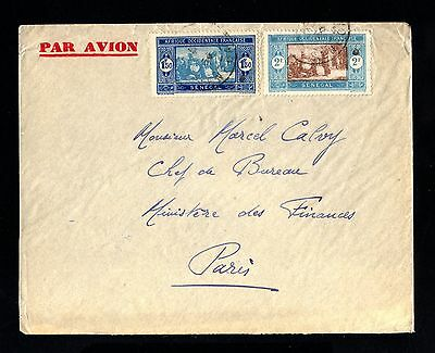 15483-SENEGAL-AIRMAIL COVER DAKAR to PARIS (france) 1934.WWII.FRENCH colonies