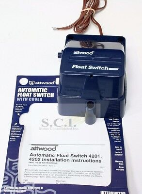Attwood Marine Boat Automatic Bilge Pump Float Switch With Cover