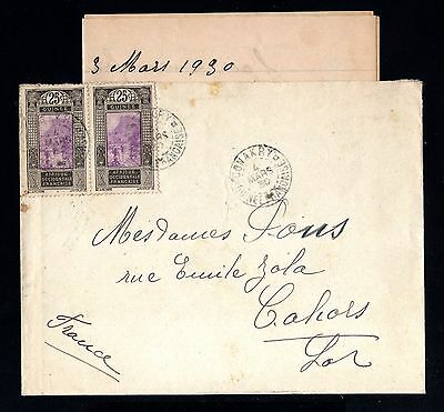 15314-FRENCH GUINEA-OLD COVER CONAKRY to FRANCE.1930.WWII.FRENCH colonies.AOF.