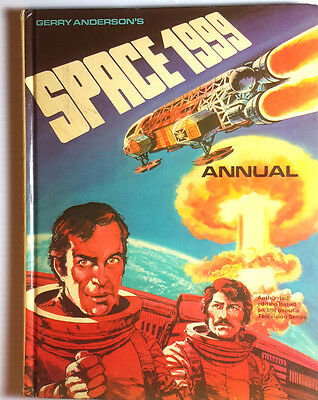 1975 SPACE:1999 British Hardcover Annual-Signed by Gerry Anderson (E-1105)