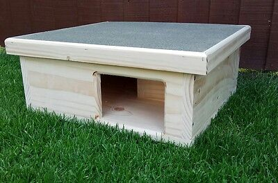 Wooden Hedgehog House And Hibernation Shelter ( Free Bedding )