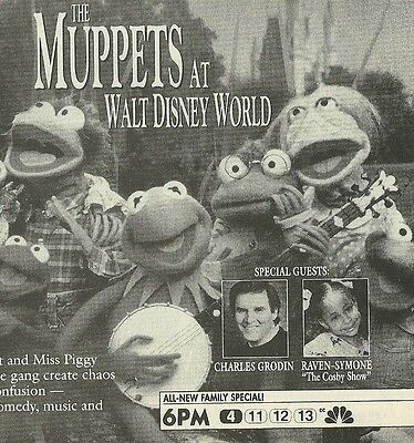 """The MUPPETS at Walt DISNEY WORLD 1990 magazine ad ~ 5"""" x 5""""~DAYS of OUR LIVES"""