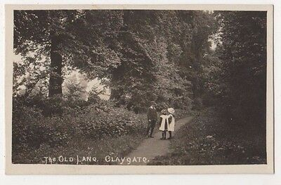 Claygate, The Old Lane Surrey RP Postcard, B704