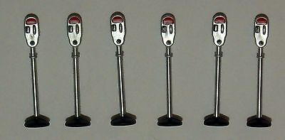 PARKING METERS QTY 6,------------ PEOPLE FIGURE O scale 1/43 On30 On3