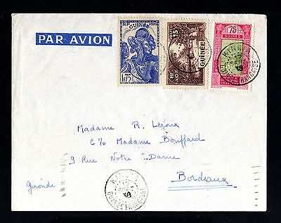 15208-FRENCH GUINEA-AIRMAIL COVER KINDIA to FRANCE.1938.WWII.FRENCH colonies.AOF