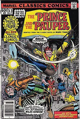 1978 Marvel Classic Comics The Prince and the Pauper Comic Book #33
