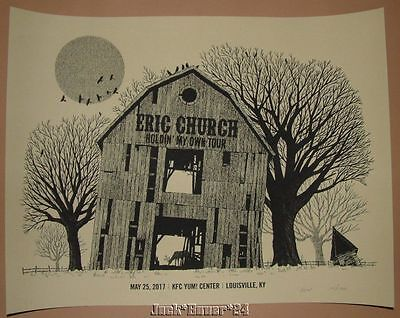 Eric Church Methane Studios Louisville Concert Poster Print Signed Numbered Art
