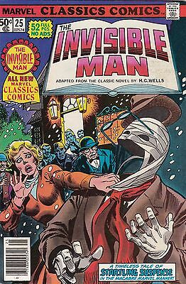 1977 Marvel Classic Comics The Invisible Man Comic Book #25
