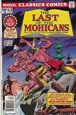 1976 Marvel Classic Comics The Last of the Mohicans Comic Book #13